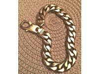"Men's 9ct 58.7grm 8.75"" Yellow Gold Bracelet (10mm wide)"