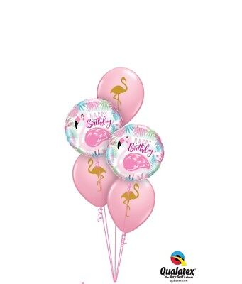 Party Supplies Tropical Pool Cocktail Birthday Flamingo Foil Balloon Bouquet