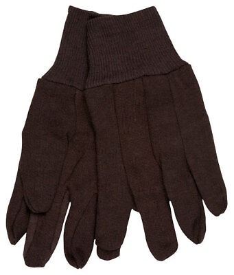 Memphis 7100p Brown Jersey Work Gloves All Cotton Size Large 12 Pair