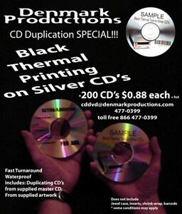 CD and DVD Duplication No order too small, Retail Ready