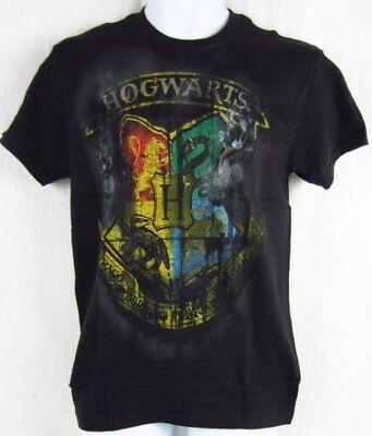 Mens NWT Harry Potter Hogwarts Gryffindor Logo Short Sleeve Black T-Shirt S L](Gryffindor Shirt)