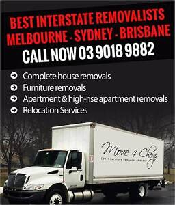 SYDNEY TO MELBOURNE Backloads and Full House Moves Special Rates Parramatta Parramatta Area Preview