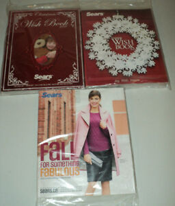 2 SEARS Christmas Wish Books NEW Still in Plastic