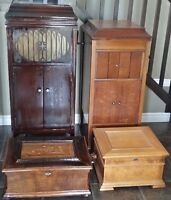 Antique Old Music Box and Gramophones Phonograph Record Player