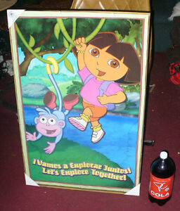 Dora the Explorer large poster and small tricycle