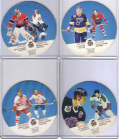 CARTES DE HOCKEY(LOT DE 9 CARTES RONDES DE LA SERIE KRAFT 91-92)