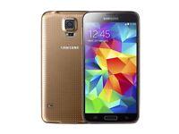 Galaxy s5 gold unlocked very good condition
