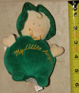 "Plush Green Doll ""My Little Angel"" with Rattle by Angel Babies London Ontario image 1"