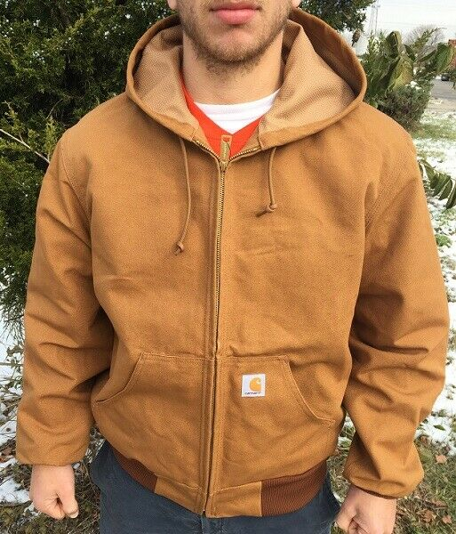 J131 Carhartt S-6XL Men/'s Thermal Lined Duck Active JACKET LT-3XLT Hooded