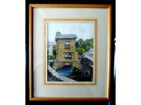 "Watercolour picture ""Bridge House, Ambleside"" by J.T.Neville"
