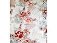 KING SIZE BLANKET BED THROW WHITE FLOWERS very soft and warm