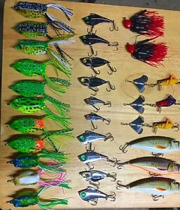 29 new fishing frogs lures bass walleye pike pickerel