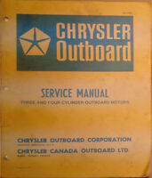 Chrysler Outboard Service Manuals