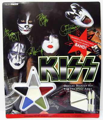 OFFICIAL MAKEUP KIT FOR KISS ARMY WHOLE BAND ACE GENE PAUL PETER HALLOWEEN MINT