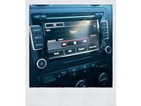 GENUINE VW RCD510 STEREO CD PLAYER SD CARD DOUBLE DIN AUX GOLF TOURAN T5 GTI R32 SEAT FR NT RNS510