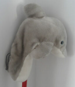 GREY DOLPHIN PLUSH GOLF HEAD COVER
