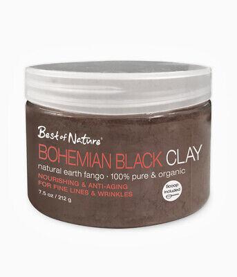 Best of Nature 100% Pure Organic Fango Dark Earth Bohemian Black Clay -