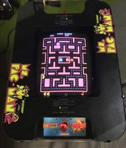Ms PacMan (+ other) Cocktail Arcade Rebuild Service see pictures