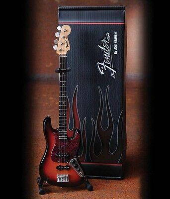 Fender Jazz Bass 3-Color Sunburst Officially Licensed Miniature Guitar 000124407