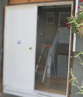 2 Exterior Double Doors with Keys and frame