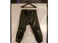 Dainese Mekong Motorcycle Leather Trousers - EU 60 / UK 42 Waist - Black - BB Bike Leathers