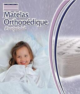 Matelas et sommier double orthopedique de luxe pour 249$.