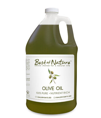 Best of Nature 100% Pure Olive Oil Massage & Body Oil - Gallon