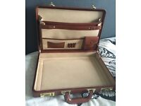 Tan leather doctors briefcase