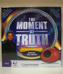 Moment of Truth party board game--excellent condition London Ontario image 1