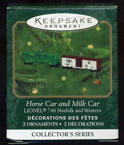 Hallmark Keepsake Lionel Horse Car And Milk Car