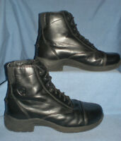 WOMENS / GIRLS ARIAT BLACK LACED PADDOCK BOOTS SIZE 5 / 36