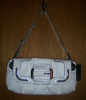 GUESS Bag ~ White Patent Purse Clutch ~ NEW With Tags