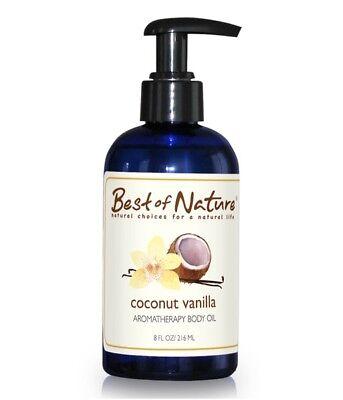Best of Nature Coconut Vanilla Aromatherapy Massage & Body Oil - 8oz Pump
