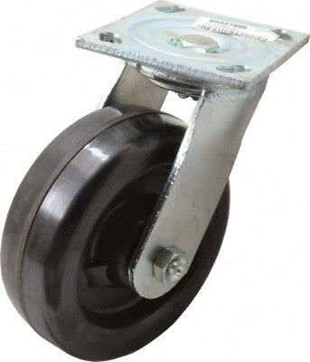 Glide Maxx 6 Inch Diameter X 2 Inch Wide Swivel Caster With Brake And Top Pl...