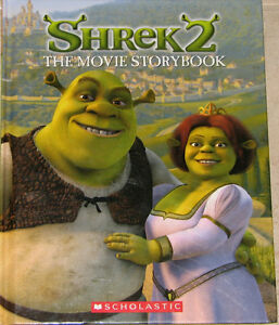 Qty 2 x Shrek 2 - The Movie Story Book Hard Cover Books