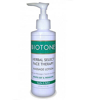 Face Therapy Lotion (Biotone Herbal Select Face Massage & Spa Therapy Lotion - 6 Ounce Pump Bottle)