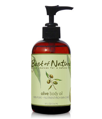 Best of Nature 100% Pure Olive Oil Massage & Body Oil - 8 Ounce Pump