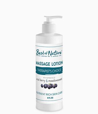 Best of Nature Therapists Choice Acai & Meadowsweet Massage Lotion - 8