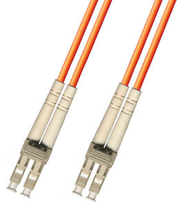 1M LC-LC DUPLEX 50/125 MULTIMODE FIBER OPTIC CABLE PATCH CORD JUMPER ORANGE