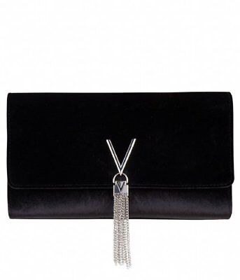 VALENTINO VELVET EVENING BLACK CLUTCH - VBS2T401V - MARILYN