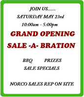 GRAND OPENING SALE -A- BRATION