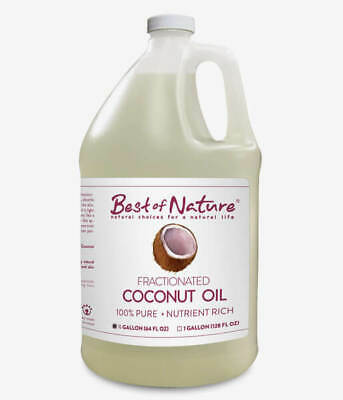 Best of Nature 100% Pure Fractionated Coconut Massage Body Facial Oil 1/2 (Best Pure Coconut Oil)