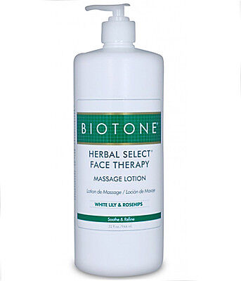 Face Therapy Lotion (Biotone Herbal Select Face Massage & Spa Therapy Lotion - 32 Ounce Pump Bottle)