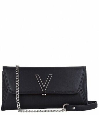 NEW Authentic Valentino By Mario Valentino Black Bag with chain. Wallet on chain