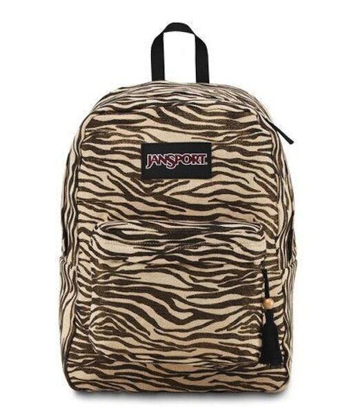 JanSport Super FX Series Backpack Gold Metallic Zebra - JanS