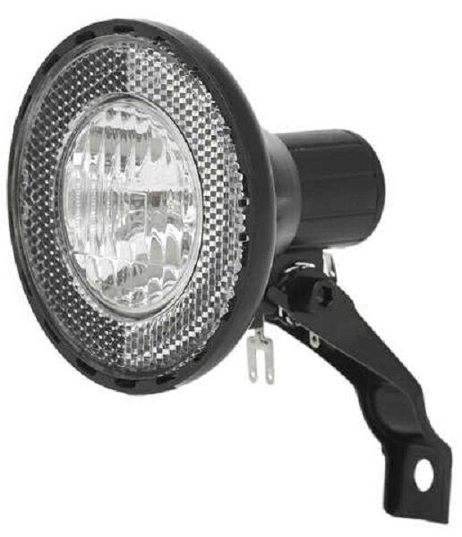 FUXON LOOP Scheinwerfer Fahrradlampe Halogen für Nabendynamo mit Schalter/Halter