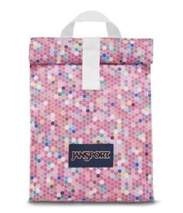 JanSport Rolltop Lunch Bag - Pink Confetti