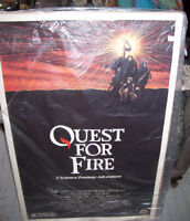 Large Vintage Original Movie Lobby Poster Quest  For Fire