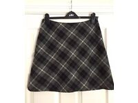 HOBBS Checked A-Line Skirt Size 12