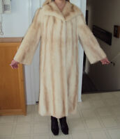 Vintage Full length Pearl Mink Coat by Hurting Furs